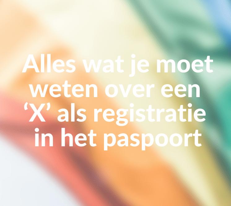 'X' als registratie paspoort